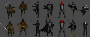 Bat-Family Pose Pack