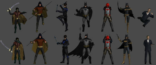 Bat-Family Pose Pack by WildGold