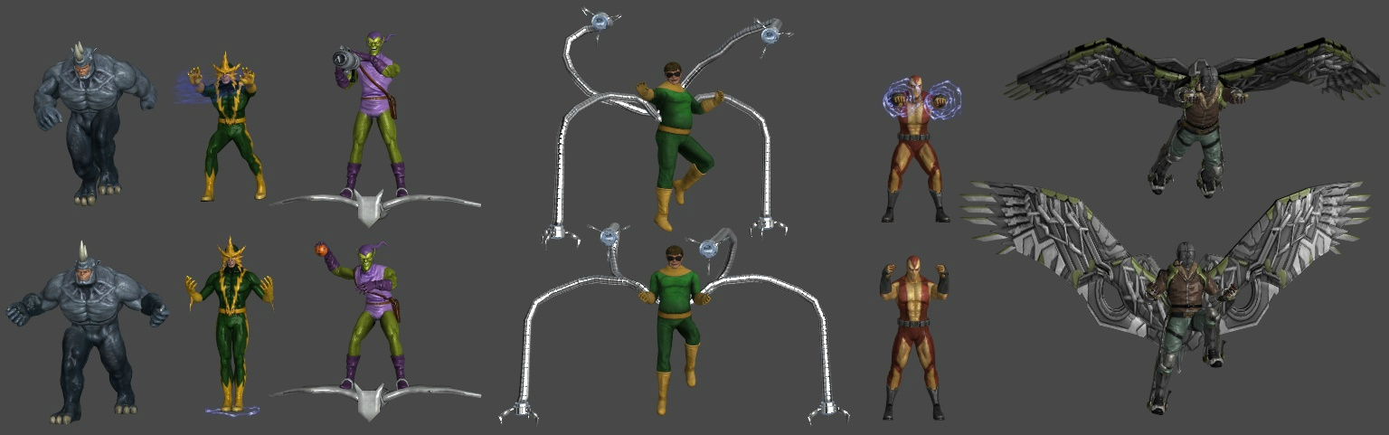 Sinister Six Pose Pack