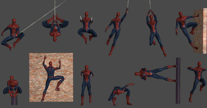 Spider-Man Pose Pack ft(Bonus Poses)