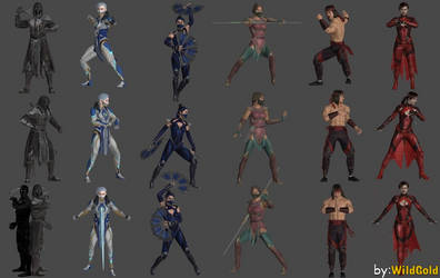 MK11 Pose Pack Intro,Stance,Outro ft (Bonus Poses) by WildGold
