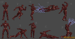 The Flash Injustice 2 Pose Pack ft3 (Bonus Poses)