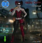 Harley Quinn Red and Black Meshmod