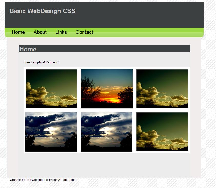 Basic Web Template by ryano292 on DeviantArt