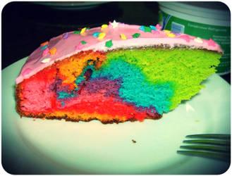 Rainbow Cake Experiment by GroovyRoo