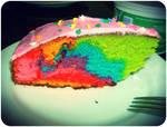 Rainbow Cake Experiment