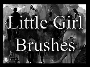 Little girl Brushes by Beautifulworld-stock