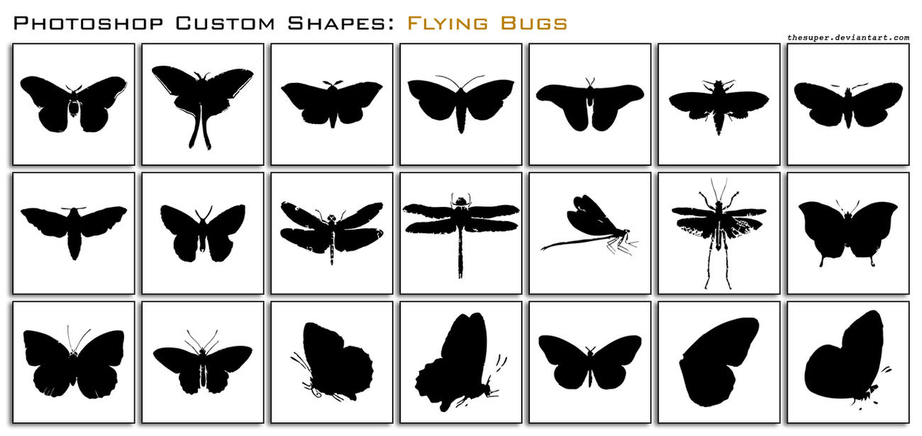Weathered Flying Bugs by thesuper
