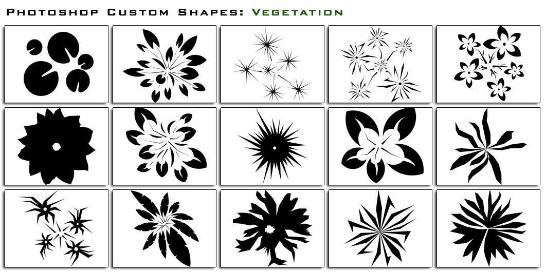 Custom Shapes Vegetation by thesuper
