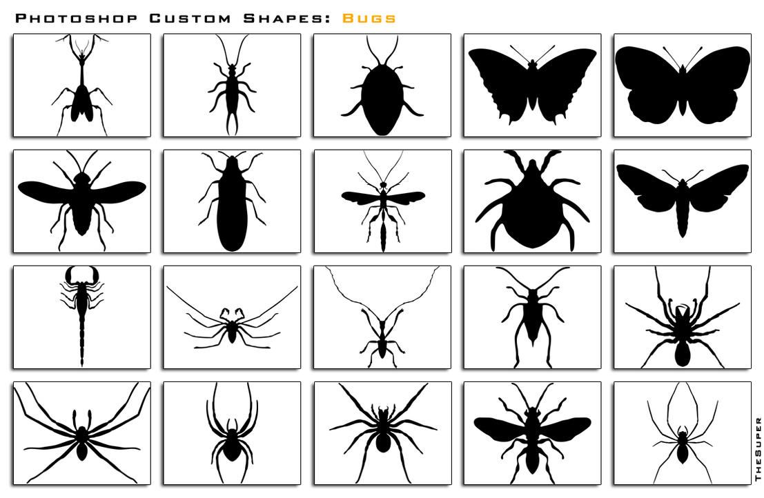 Photoshop Custom Shapes Bugs by thesuper