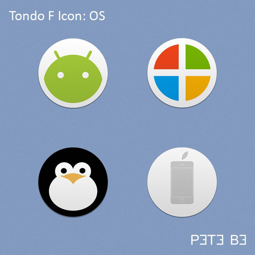 Tondo F Icon Set: OS by P3T3B3