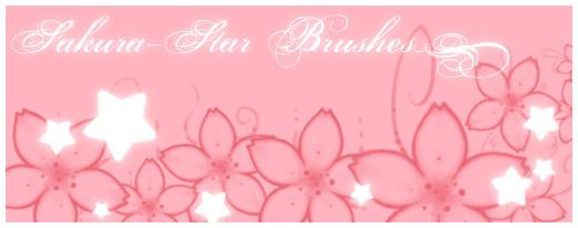 Sakura-Star Brushes by Nya-ko
