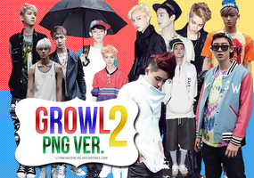 2nd Pack | EXO Growl PNG. Ver. by IliTakishimaCho