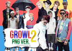 2nd Pack | EXO Growl PNG. Ver.