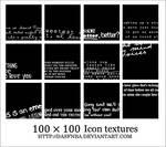 100x100 Icon text textures