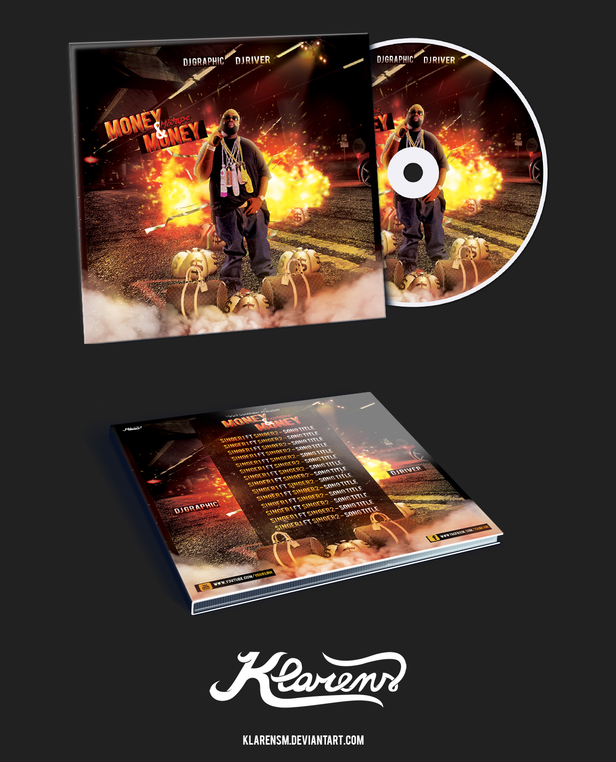 hip hop mixtape album cd cover free psd template by klarensm on