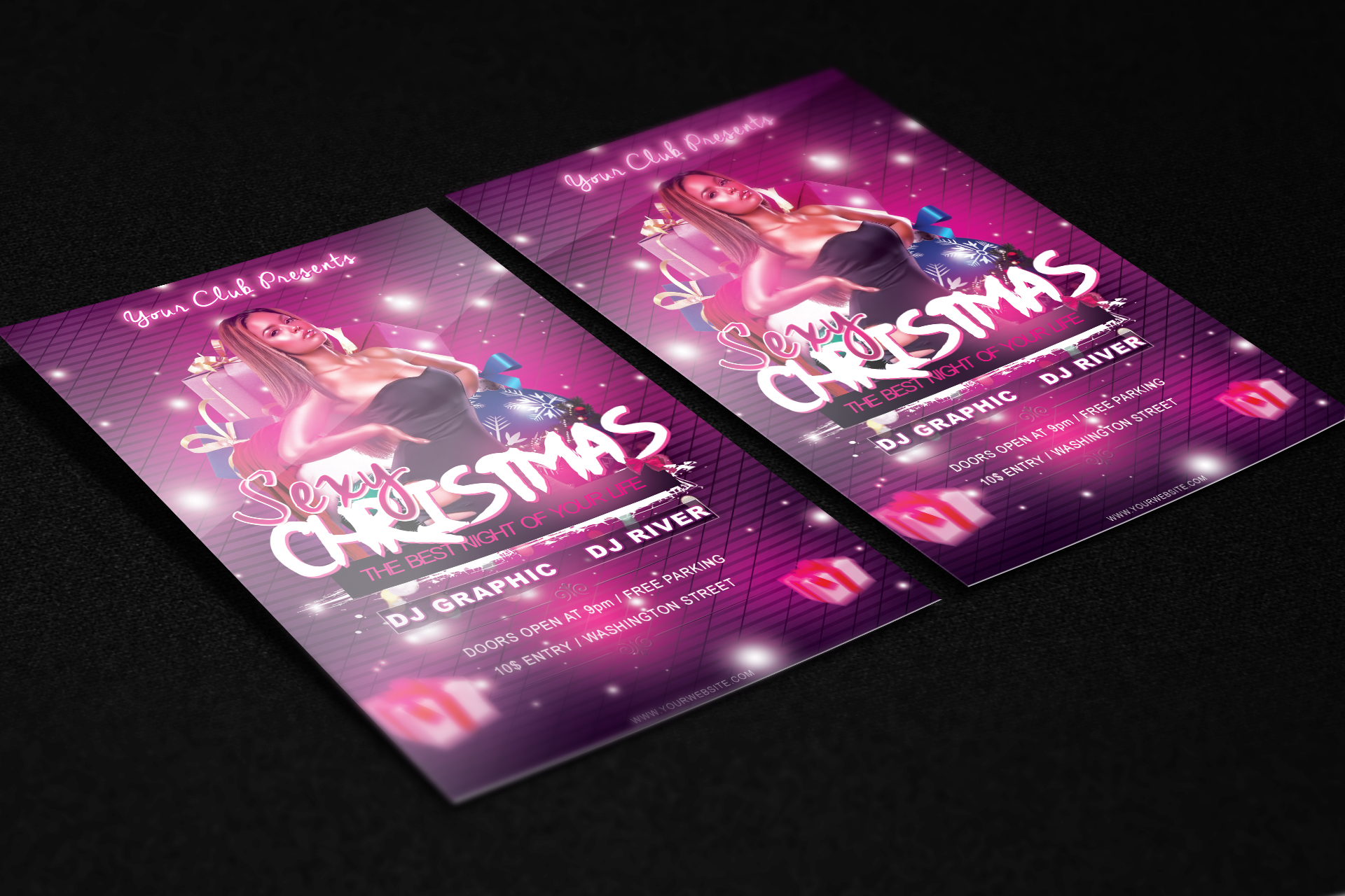 Sexy Christmas Flyer Template Free Download By Klarensm On Deviantart