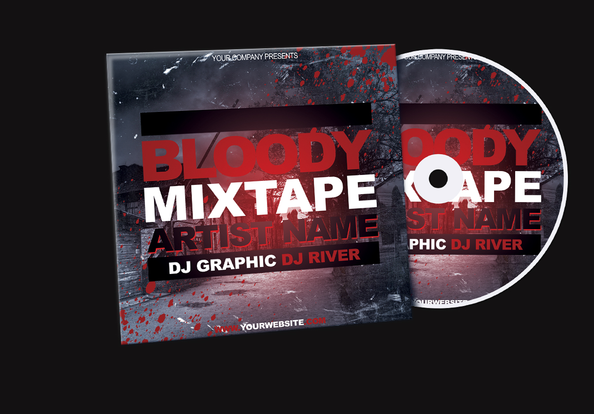 Bloody Mixtape CD Cover FREE PSD Template by KlarensM on DeviantArt – Psd Album Cover Template