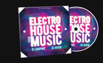 Electro House Music CD Cover FREE TEMPLATE