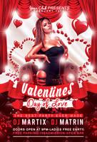 Valentine's Day Flyer - FREE PSD Template (2015) by KlarensM