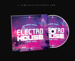 Electro House CD Cover FREE PSD Template