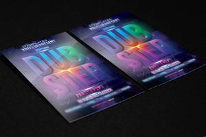 Dubstep Party Flyer FREE PSD Template by KlarensM