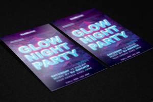 Glow Night Flyer FREE PSD Template by KlarensM