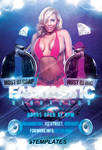 Fantastic Night Party Flyer FREE PSD Template