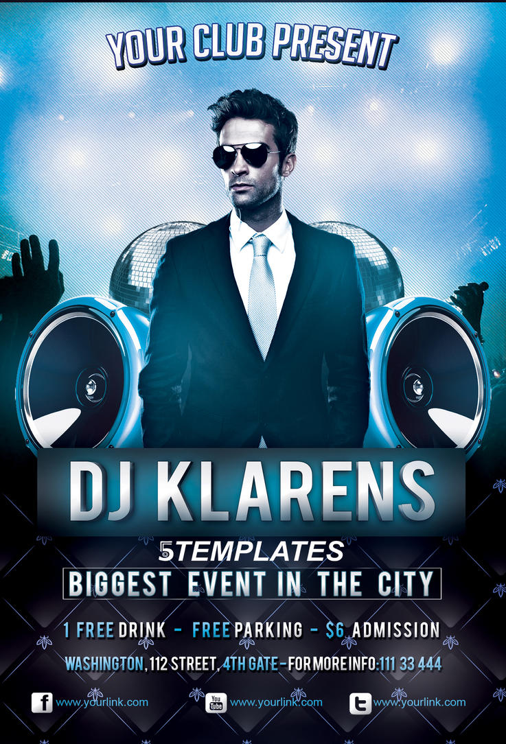 Guest Dj Flyer FREE PSD Template by KlarensM on DeviantArt