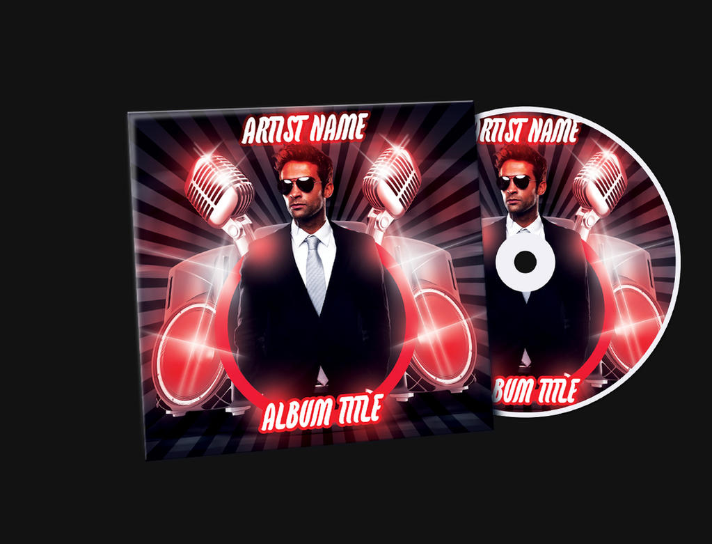 red mixtape cd cover free psd template by klarensm on deviantart
