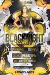 Black Night Flyer Free PSD Template