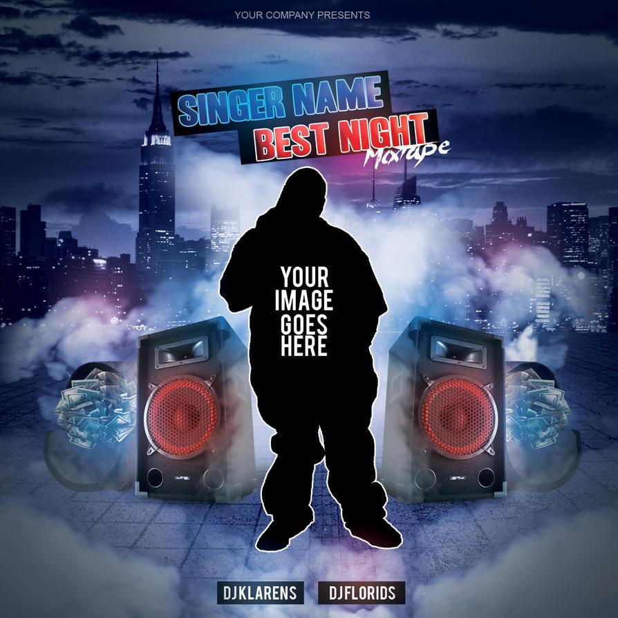 mixtape album cd cover free psd template by klarensm on deviantart
