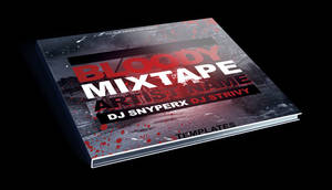 Bloody Mixtape CD Cover Free PSD Template