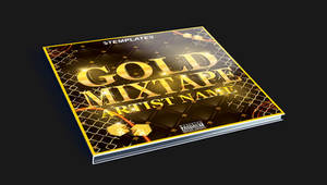 Gold Mixtape CD Cover Free PSD Template