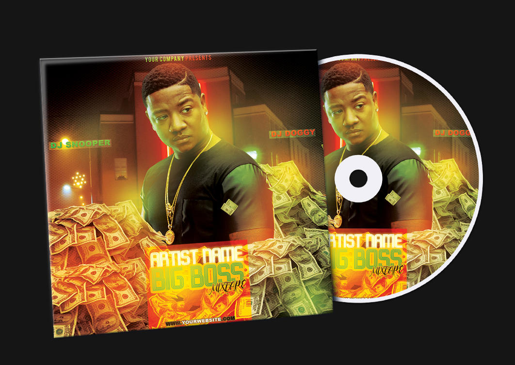 money mixtape cd cover free psd template by klarensm