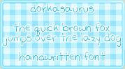 Dorkasaurus :: font by carissaraptor