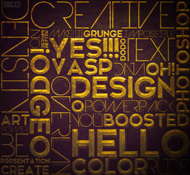 The Golden Typography PSD by Geo19 by GeoJoseph19