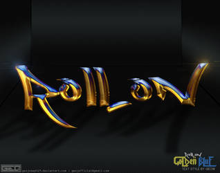 Roll on Golden-Blue text style by Geo19 by GeoJoseph19