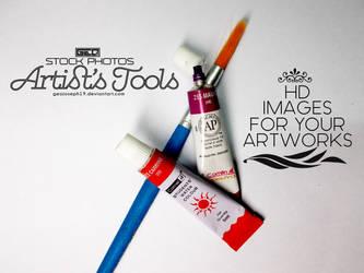 Artist's tools-Stock Photos by GeoJoseph19
