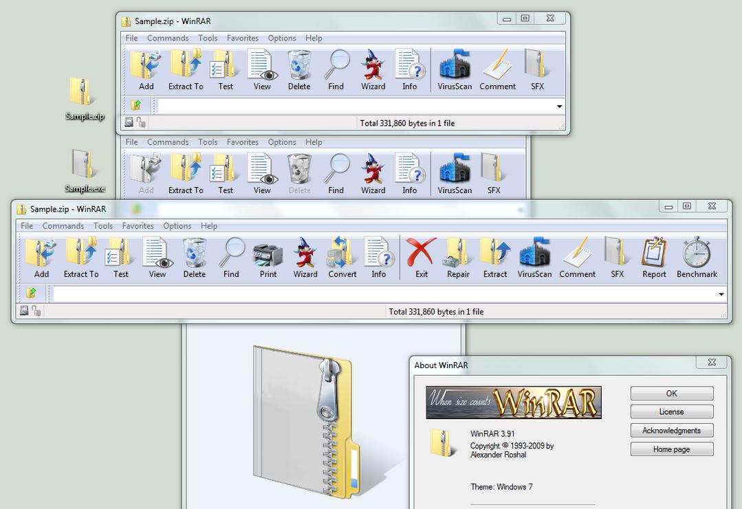 WinRAR Theme: Windows7 Default by chaddawkins