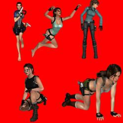Lara Croft Poses by bradpigg