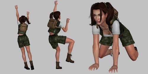 Lara Retro Poses by bradpigg