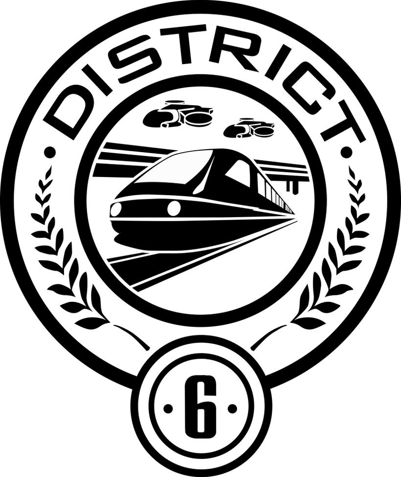 District 6 Seal by trebory6 Hunger Games Capitol Seal Vector