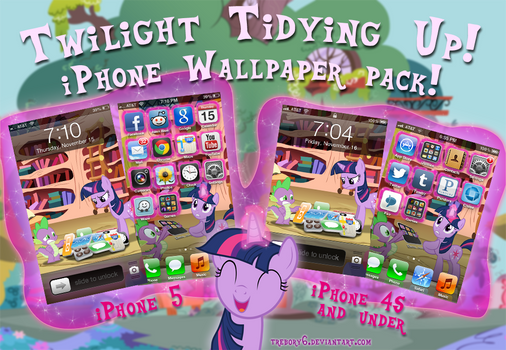 Twilight Tidying up! iPhone Wallpaper Theme!