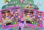 Twilight Tidying up! iPhone Wallpaper Theme!