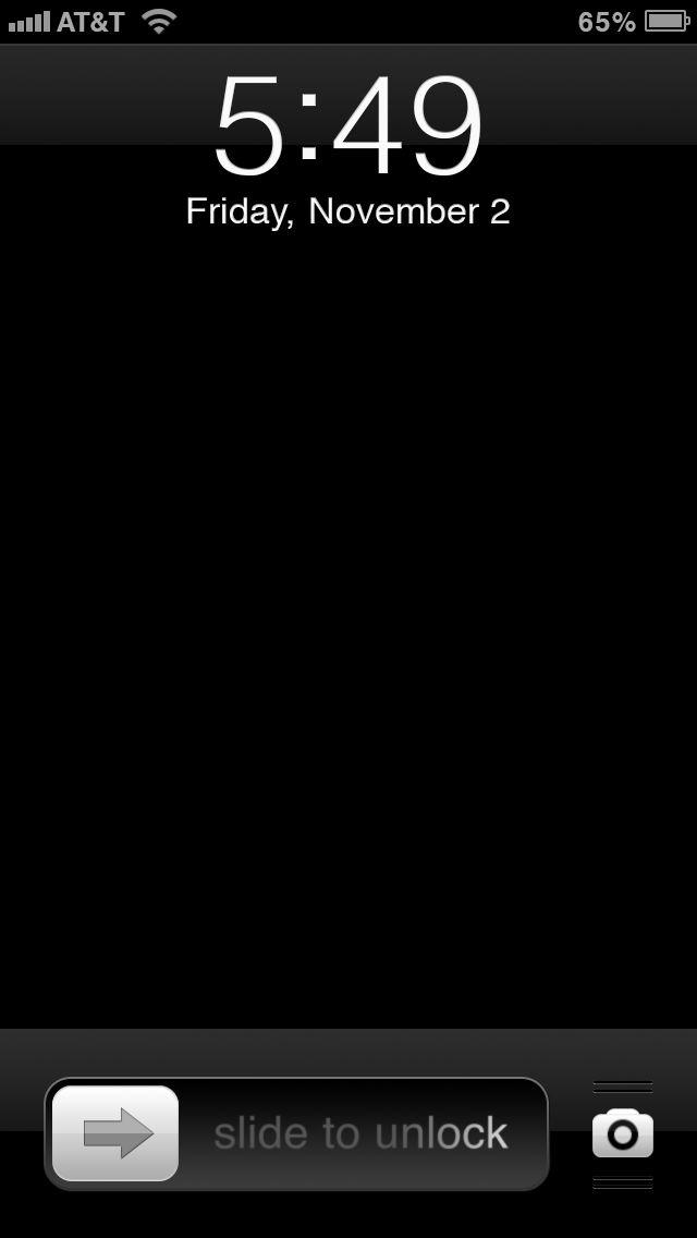 iPhone 5 Lock Screen Overlay Template