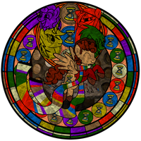 Stainglass design: 4th Doctor Whooves by xSummerStream