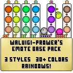 Rainbow Emoticon Base Pack by Waluigi-Prower