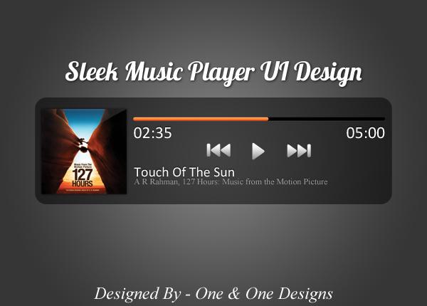 Sleek Music Player UI Design (PSD)