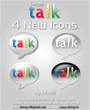 4 New Icons for Google Talk